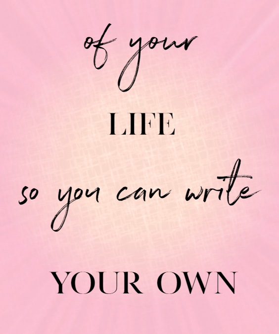 inspirational quote be the author of your life so you can write
