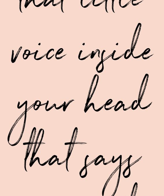 Inspirational Quote Slay That Little Voice Inside Your Head That